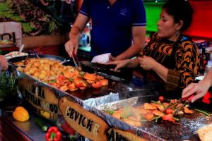Перуанская уличная еда